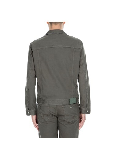 Armani Exchange Armani Exchange Gömlek Yaka Uzun Kol Cepli Erkek Kot Ceket Haki